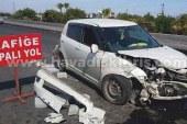 Trafiğe açık olmayan yolda kaza!