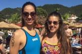 Melis ve Emine  madalyaya yüzdü