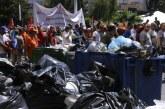 """Yunanistan'da """"çöp krizi"""" büyüyor"""