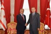Akıncı ile Erdoğan bir araya geldi