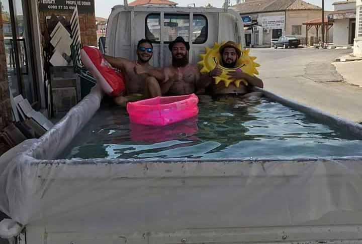 Photo of Geçitkale'de gençlerden sıcaklara alternatif çözüm