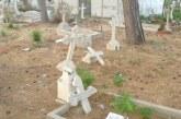 Girne Rum mezarlığına zarar verildi