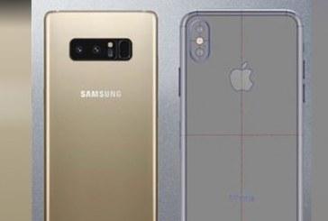 iPhone X, Galaxy Note 8'e karşı