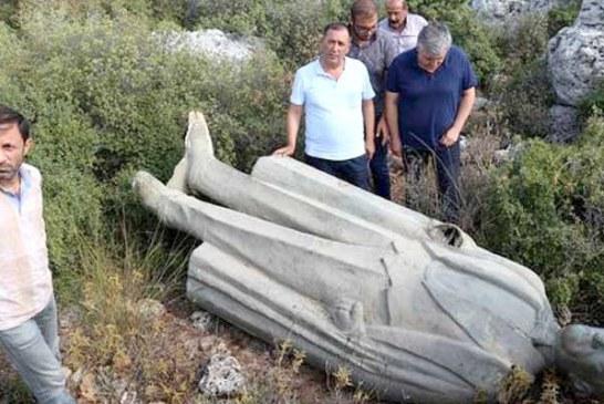 Ormanda Atatürk heykeli bulundu