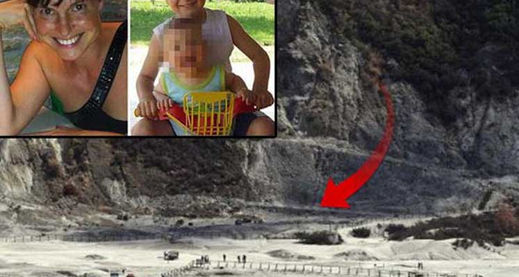 Yanardağda facia: Bir aile kratere düştü