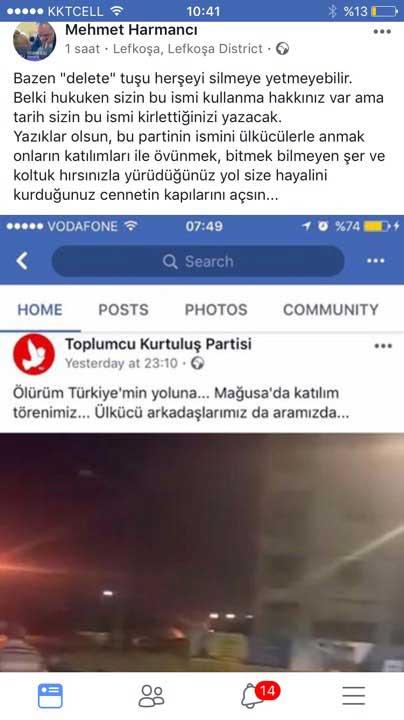 TKP'den skandal paylaşım