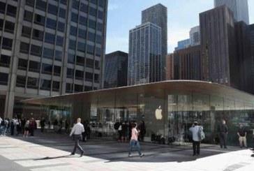 """Apple Chicago'da çatısı """"MacBook"""" şeklinde mağaza açtı"""
