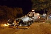 Girne yolunda korkutan kaza