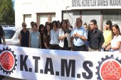 KTAMS Sosyal Hizmetler Dairesi önünde basın açıklaması yaptı