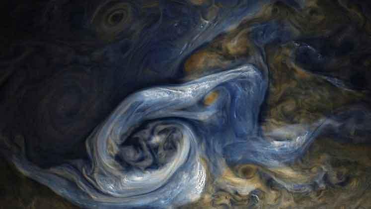 Jüpiter'deki dev fırtına böyle gözlemlendi