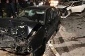 Araç geçeyim derken kaza yaptı