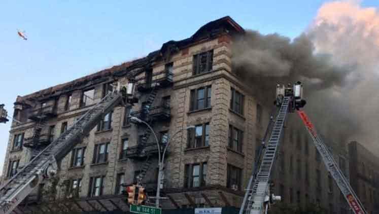 New York'ta yangın paniği