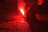 Yunanistan'da protesto sırasında bir kadın alev aldı