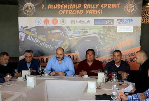 2.Alu Denizalp Off Road Rally Sprint Yarışı'nda 19 ekip start alacak