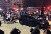 Brezilya'da dehşet anları: Otomobil yayaların arasına daldı