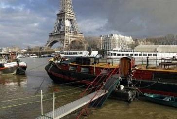 Paris'in sembolü Seine Nehri taştı