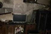 Odun sobasına benzin döktü, evi yaktı