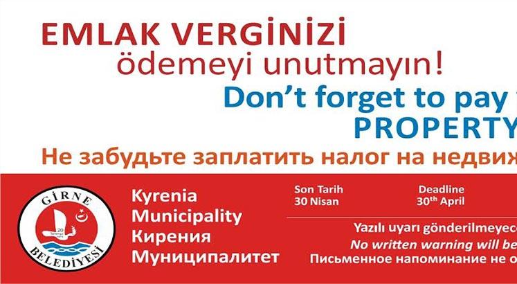 Photo of Girne'de emlak vergisi veznesi yarın açık olacak