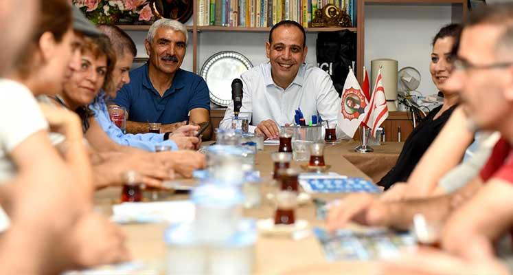 Photo of Harmancı, Alevi Kültür Merkezi başkan'ı bir araya geldi