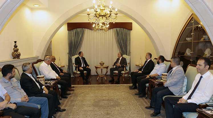 Photo of Akıncı, KTOB ve KITSAB Başkanlarını kabul etti