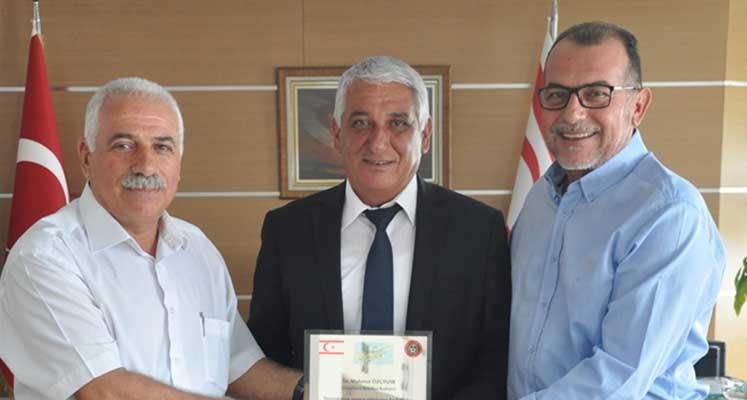 Photo of Özçınar, Antrenörler Birliğini kabul etti