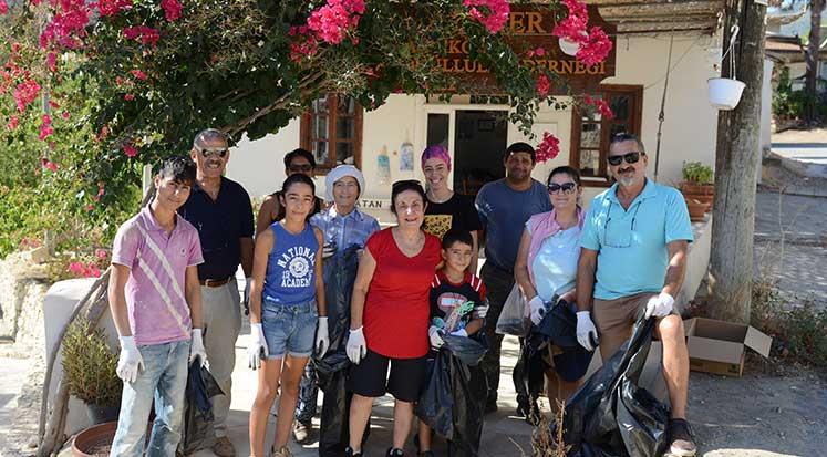 Photo of Bağlıköy gönüllüleri, köylerini temizledi