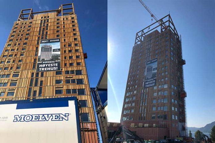 dünyanın en yüksek ahşap binası Moelven