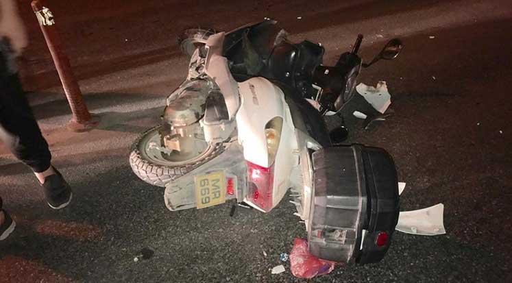Photo of Mağusa'da araç ile motosiklet çarpıştı: 1 yaralı