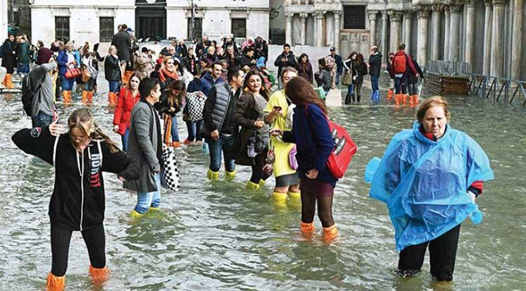 Venedik - Sel - İtalya