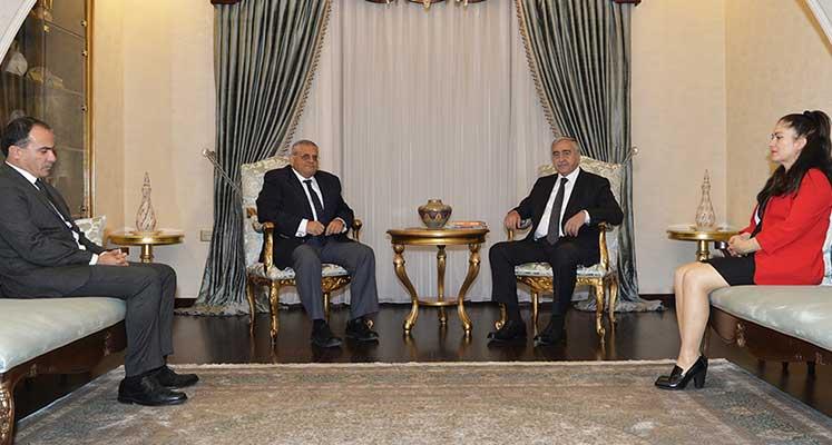 Photo of Cumhurbaşkanı Akıncı, DAÜ Rektörü Osam  biraraya geldi