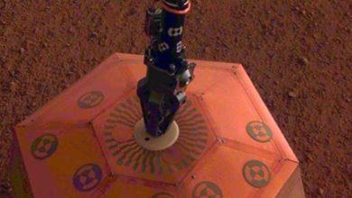Photo of InSight, Mars yüzeyine depremölçer indirdi