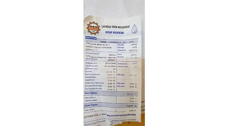 su faturası