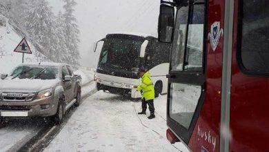 Photo of 25 kişilik otobüs Trodos'ta mahsur kaldı