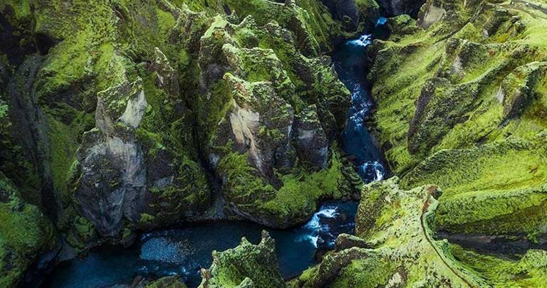 Fjadrargljufur Kanyonu - İzlande