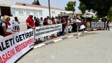 Photo of KTOEÖS Meclis önünde eylem yapıyor