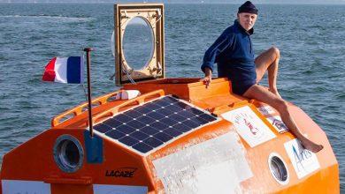 Photo of 72 yaşındaki gezgin, kendi tasarladığı fıçı ile Atlas Okyanusu'nu geçmeyi başardı
