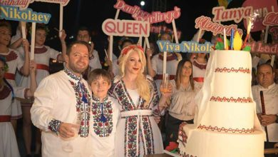 Photo of Girne'de Ukrayna temalı doğum günü