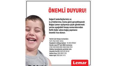 Photo of Lemar: Açılış törenimize çiçek göndermek yerine Refik Ejder adına bağış yapın