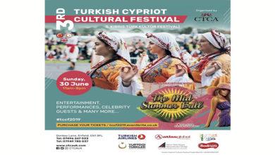 Photo of 3. İngiltere – Kıbrıs Türk Kültür Festivali 30 Haziran Pazar günü yapılıyor