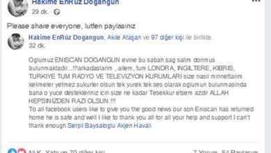 Photo of Eniscan Doğangün bulundu