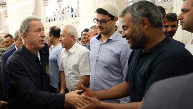 Photo of Hala Sultan'da bayramlaştılar