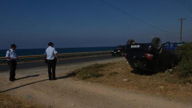 Photo of Takla atan araçtan yara almadan çıktı