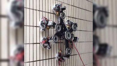 Photo of Bu örümcek robot, yeni bir teknoloji sayesinde düz duvara tırmanabiliyor