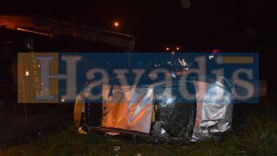 Photo of Direksiyon hakimiyetini kaybetti, 3 kişi yaralandı