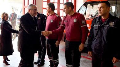 Photo of Akıncı İtfaiyenin Girne şubesini ziyaret etti