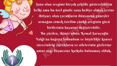 Photo of Kemal Saraçoğlu Vakfı'dan, Sevgiliye Muhteşem bir Hediye Seçeneği; Sevgi Kartı