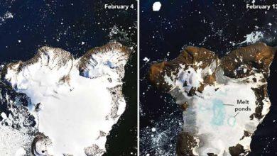 Photo of NASA Antarktika'da buzul erimesinin yarattığı etkiyi uzaydan görüntüledi