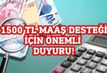Photo of Çalışma Bakanlığı'ndan '1500 TL ücret desteği' ile ilgili açıklama