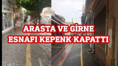 Photo of Girne çarşı esnafı da kepenk kapattı