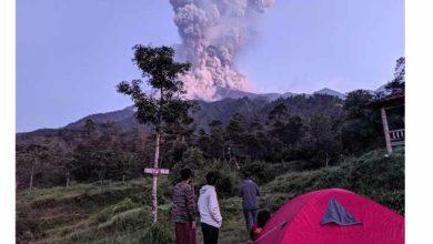 Photo of Endonezya'da Merapi Yanardağı'nda patlama